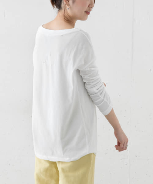 [ROSSO][ATON BOATNECK LONG-SLEEVE T-SHIRTS]
