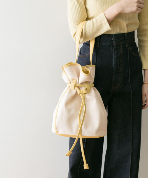 [URBAN RESEARCH][the dilettante TwillCanvasDrawing Bag]