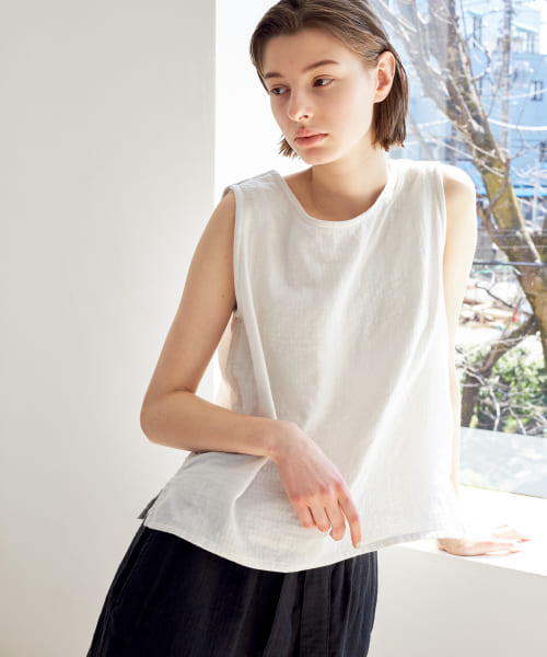 [URBAN RESEARCH][URBAN RESEARCH×UCHINO マシュマロガーゼWOMENS N/S TOPS]