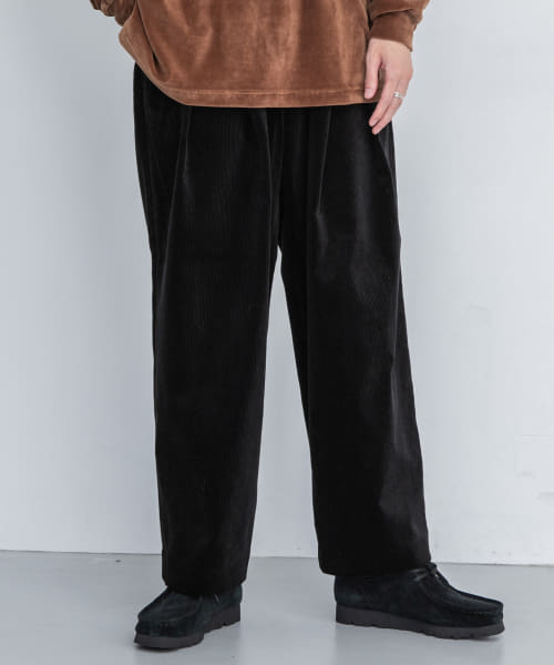 [URBAN RESEARCH][is-ness CORDUROY TUCK TROUSERS]