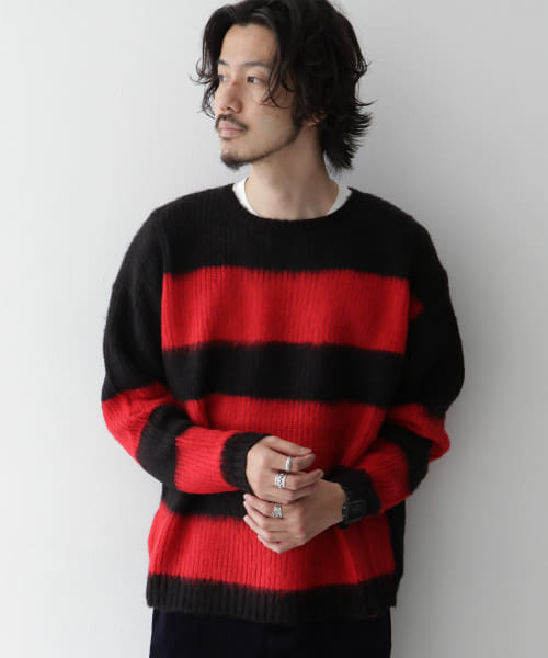 [Sonny Label][CAL O LINE MOHAIR SWEATER]