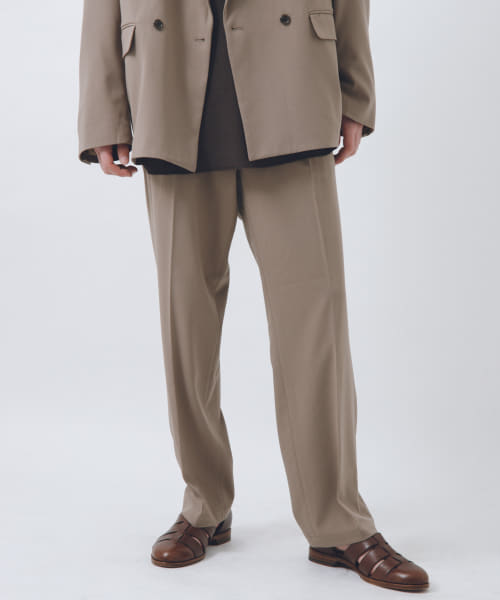 [URBAN RESEARCH][URBAN RESEARCH iD TWO TUCK SLACKS]