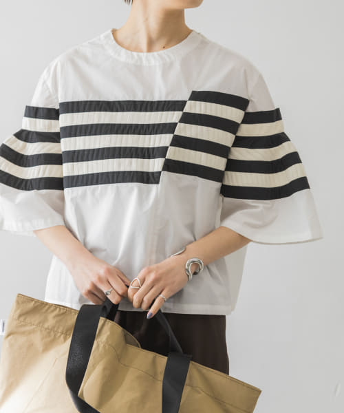 [URBAN RESEARCH][rumche Knit Bonding Pullover Shirts]