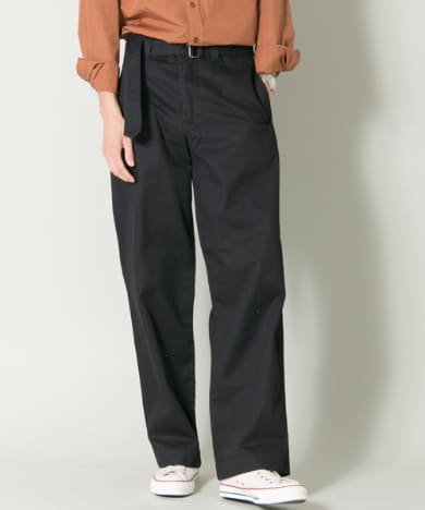 MHL. COTTON DRILL BELTED  PANTS