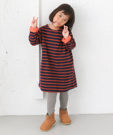 FORK&SPOON Brushed Border ONE-PIECE(KIDS)