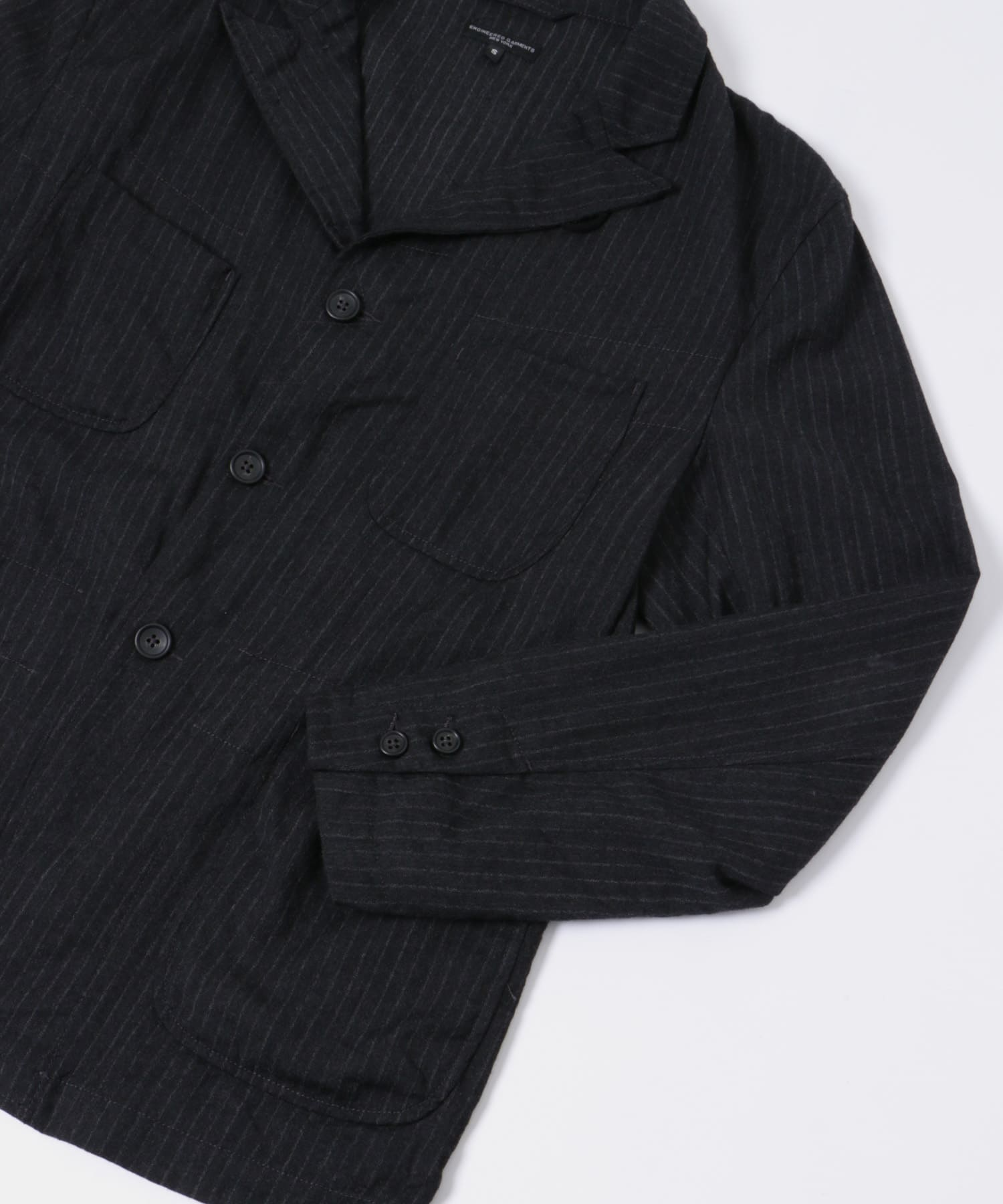 NB Jacket - Wool Chalk Stripe FG219: Charcoal