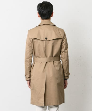 Chino Cloth Trench Coat DR52-17Y037: Beige