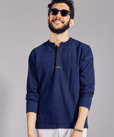 FSC JP ID SURPLUS HENLEY NECK LONG-SLEEVE