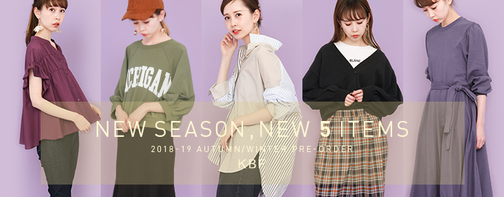 KBF NEW SEASON NEW 5 ITEMS PRE-ORDER