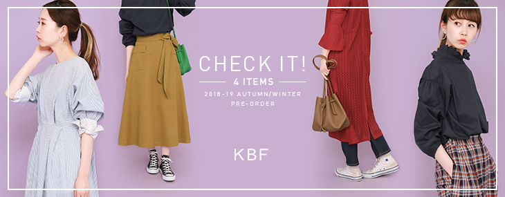 KBF CHECK IT! 4 ITEMS PRE-ORDER