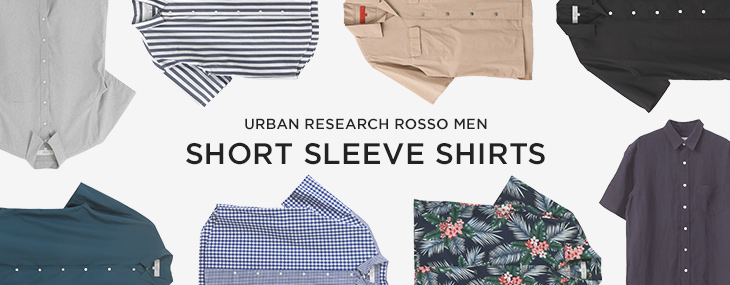 URBAN RESEARCH ROSSO MEN SHORT SLEEVE SHIRTS