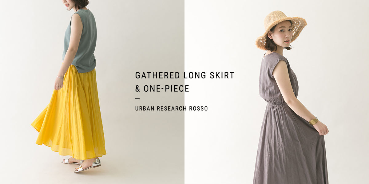 GATHERED LONG SKIRT&ONE-PIECE