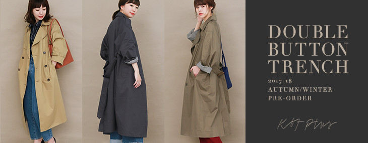 KBF+ DOUBLE BUTTON TRENCH PRE-ORDER