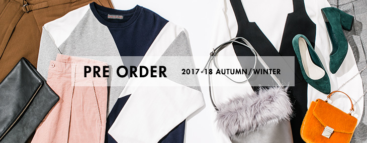 PRE ORDER 2017-18 AUTUMN/WINTER