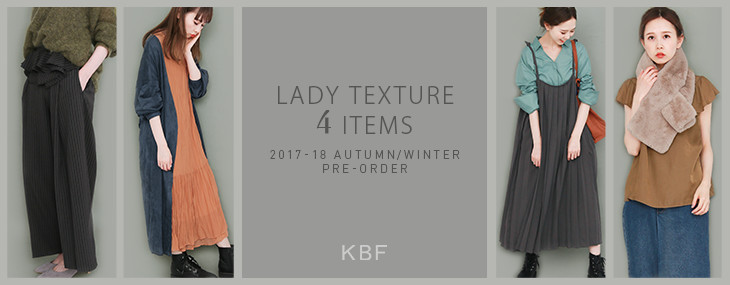 KBF LADY TEXTURE 4 ITEMS PRE-ORDER