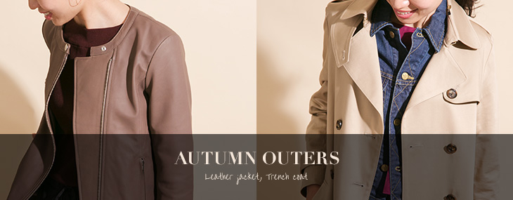 AUTUMN OUTERS -Leather jacket. Trench coat-