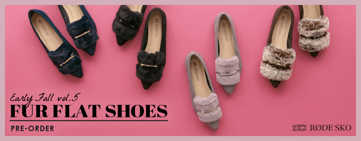 RODE SKO Early Fall vol.5 FUR FLAT SHOES Pre-order