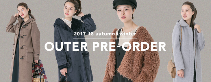 2017-18 autumn&winter OUTER PRE-ORDER