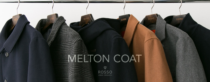 URBAN RESEARCH ROSSO MEN MELTON COAT