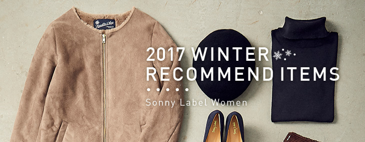 Sonny Label Women 2017 WINTER RECOMMEND ITEMS