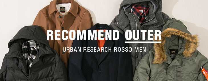 URBAN RESEARCH ROSSO MEN RECOMMEND OUTER