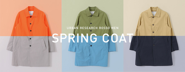 URBAN RESEARCH ROSSO MEN  SPRING COAT
