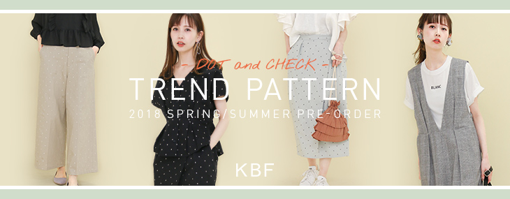 KBF TREND PATTERN -DOT and CHECK- PRE-ORDER