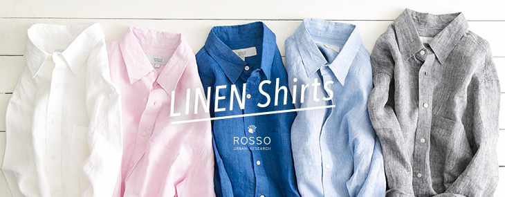 URBAN RESEARCH ROSSO MEN LINEN Shirts