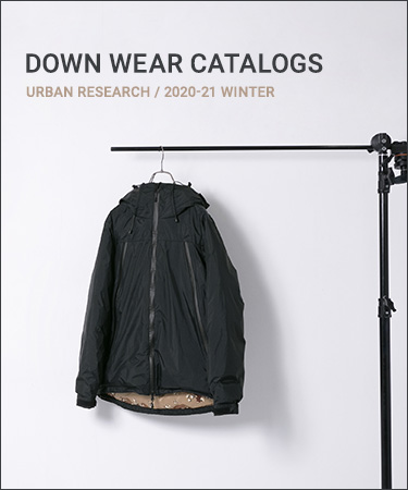 DOWN WEAR CATALOGS  URBAN RESEARCH 2020-21 WINTER