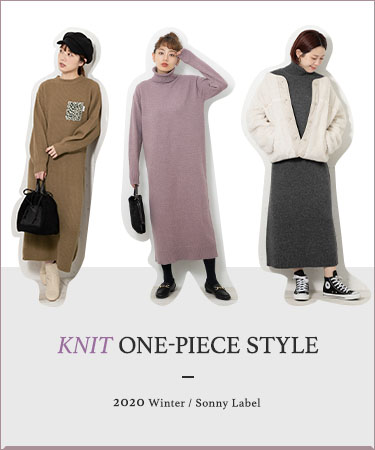 KNIT ONE-PIECE STYLE 2020 Winter