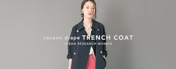 cocoon drape TRENCH COAT